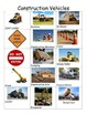 Construction Unit Vocabulary for Preschoolers: Vehicle and Tool Bingo