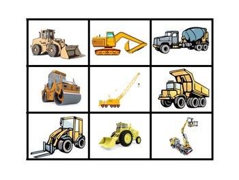 Construction Vehicle Magnifying Match Game