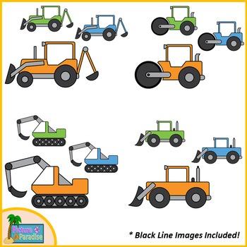 Construction Vehicles Clip Art