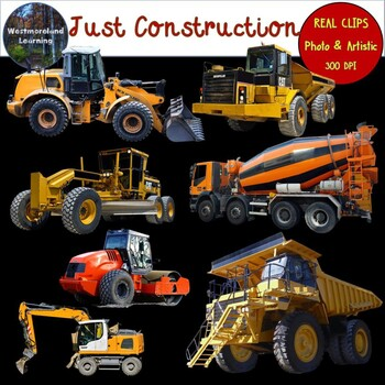 Construction Vehicles Clip Art Photo & Artistic Digital Stickers