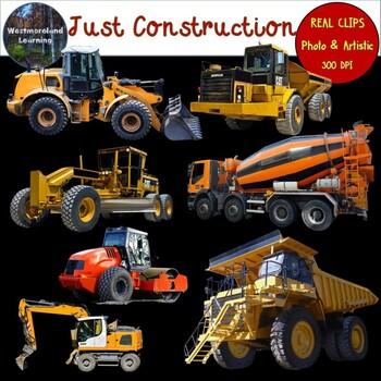 Construction Vehicles Clip Art Photo & Artistic Digital Stickers