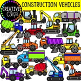 Construction Vehicles Clipart {Creative Clips Clipart}