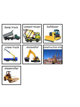 Construction Vehicles Emergent Reader