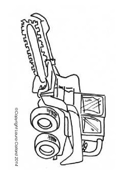 Construction Vehicles - Tracing and Colouring