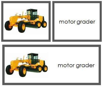 Construction Vehicles: Words and Picture Cards