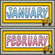 Construction/Vintage Chevron Calendar Set