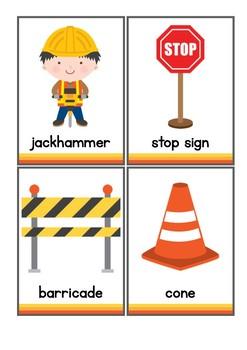 Construction Vocabulary Flash Cards