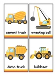 Construction Vocabulary Flash Cards