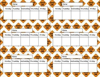 Construction Weekly Charts