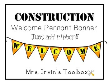 Construction Welcome Pennant Banner