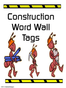 Construction Word Wall Tags