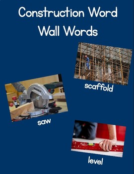 Construction Word Wall Words