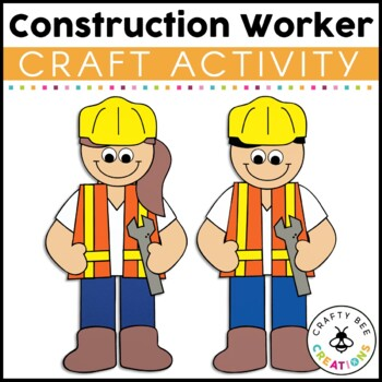 community helper craft construction worker by crafty bee creations