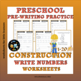 Construction Write Numbers Worksheets 1-20