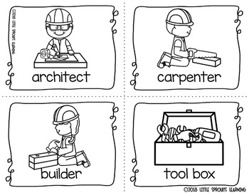 Construction Write the Room -16 cards four versions, four recording sheets