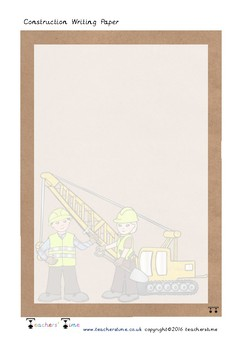 Construction Writing Paper
