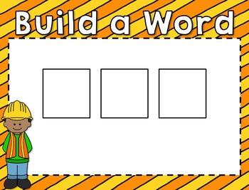 Construction Zone - Building Short Vowel Words