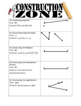 Construction Zone: Segments & Angles