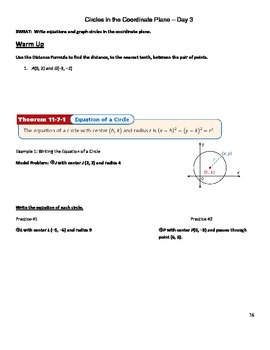 Construction and Loci Guided Notes and Review