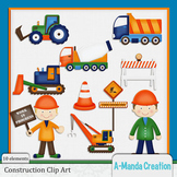 Construction and Trucks Clip Art