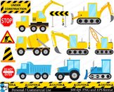 Construction Digital Clip Art Personal Commercial Use 26 PNG cod144
