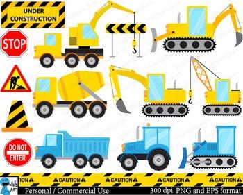 Construction Digital Clip Art Personal Commercial Use 26 P
