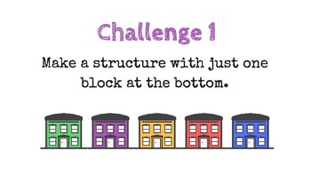 Construction challenge cards