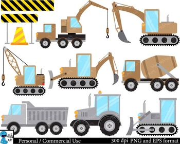 Construction gray and brown Digital Clip Art Graphics 26 images cod141