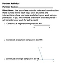Construction of Congruent Segments and Angles