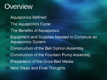 Construction of a Basic Aquaponics System PowerPoint