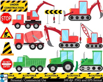 Construction red and green Digital Clip Art Graphics 26 im