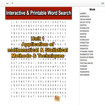 Construction & the Built Environment Level 3 Unit 1 Interactive Word Searches