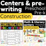 CONSTRUCTION SITE | Math & Literacy Centers + no prep | PR