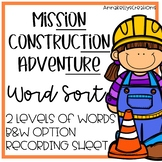 Construction, tion, sion ture word sort