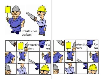 Construction workers cutting exercise