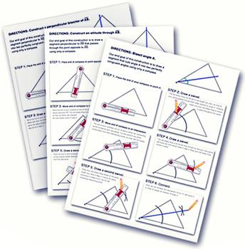 Constructions Handout– Angle Bisectors, Perpendicular Bisectors, Altitudes