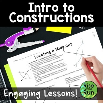 Constructions Intro for Geometry, Step by Step Instructions