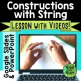 Constructions Using a String and Straight Edge