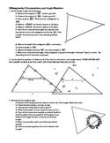 Constructions: Midsegments, Circumcenters, and Angle Bisectors (Editable)