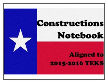 Constructions Notebook - TEKS Aligned