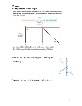 Constructions & Scale Drawings Guided Notes Big Ideas Red:7th Grade Chapter 7
