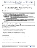 Constructions, Sketches, and Drawings