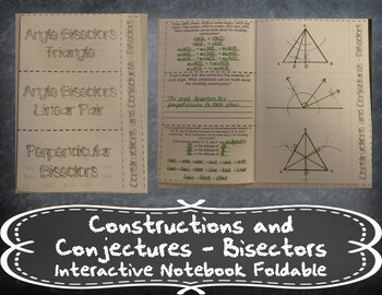 Constructions and Conjectures - Bisectors Foldable