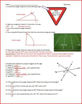 Constructions of Segments, Angles, Bisectors, Perpendicular, Parallel (WS)