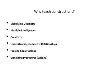 Constructions with Compass and Straightedge