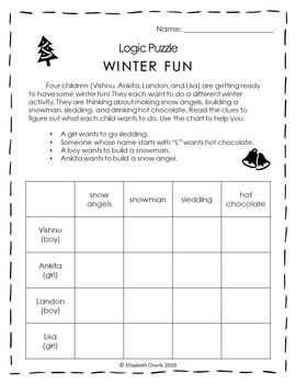 Constructive CHRISTMAS Worksheets