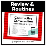Constructive Conversation Sentence Stems