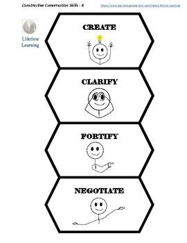 Constructive Conversation Skills for Kindergarten-B&W