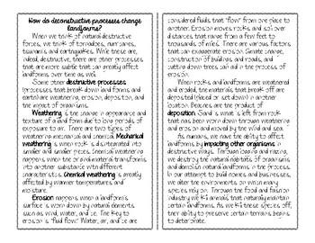 Constructive & Destructive: How do deconstructive processes change landforms?