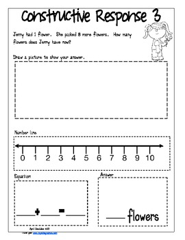Constructive Response Packet for K-1